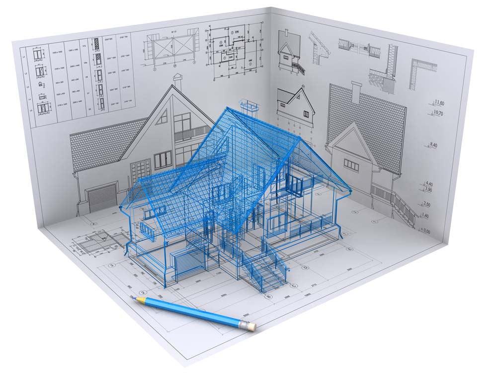 ①找土建公司   ②土建图纸拿去物业备案   ③土建公司和设计师共同