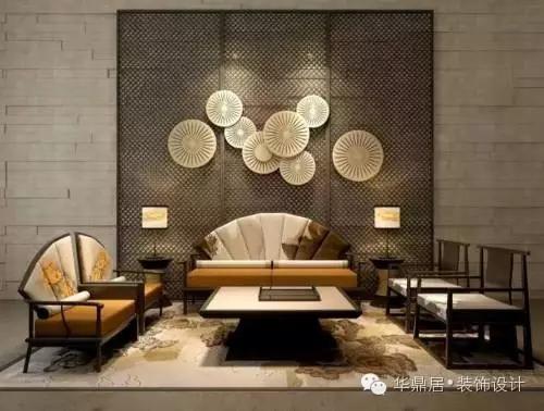 9个沙发背景墙,演绎新中式的别样雅致!图片