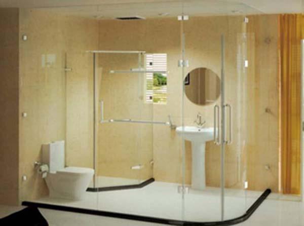 装修保障网 百科 设计百科 局部 局部设计 浴室隔断  3浴室隔断效果图