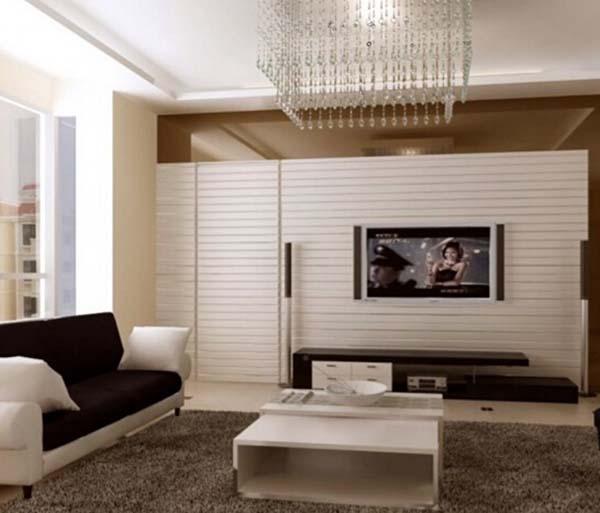 客厅隐形门电视背景墙