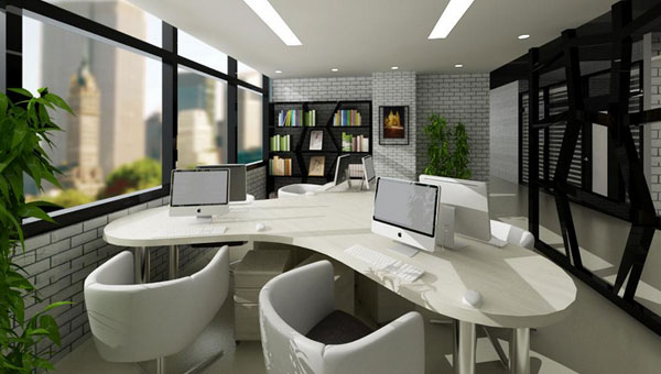 办公室根据不同的面积,构造,会呈现出不同的类型,而其中便有一种,名曰小型办公室。近年来,小型办公室装修越来越大众化,也越来越被人们所认可,一般来说小型办公室装修有两种情况,一种是企业文化或公司特性所致,还有一种是员工偏少,公司不大的选择。 小型办公室装修理念一:单间式办公室装修设计 在走道边设置一个相对较大的房间,沿房间的周边设置服务设施,这样的布置可以满足其采光性,他还有几个优点,即室内相对安静、同事间的关系能建立的较为密切,但也有不足,即空间太小,前后间同事的工作联系不大,这种办公室只适用于规模不大的