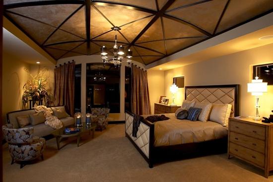 2015欧式风格卧室吊顶设计效果图