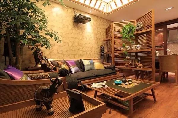 东南亚风格_70平米房子装修出东南亚风格效果图