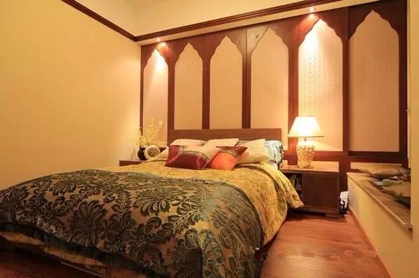70平米房子装修出东南亚风格效果图图片