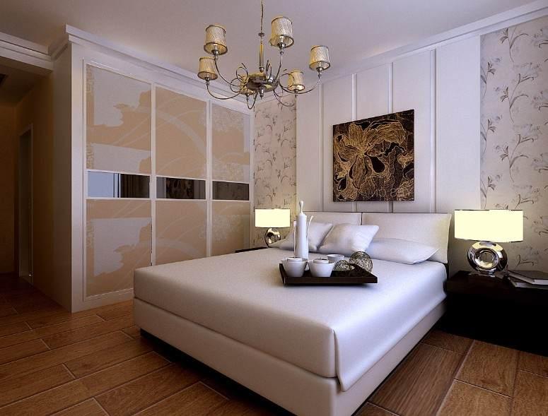 卧室的灯光照明以温馨和暖的黄色为基调,床头上方可嵌筒灯或壁灯,也可