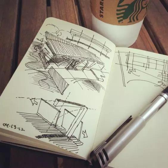 设计师的手绘稿