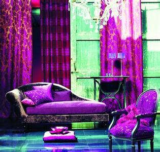 欧式紫色风格装修图片