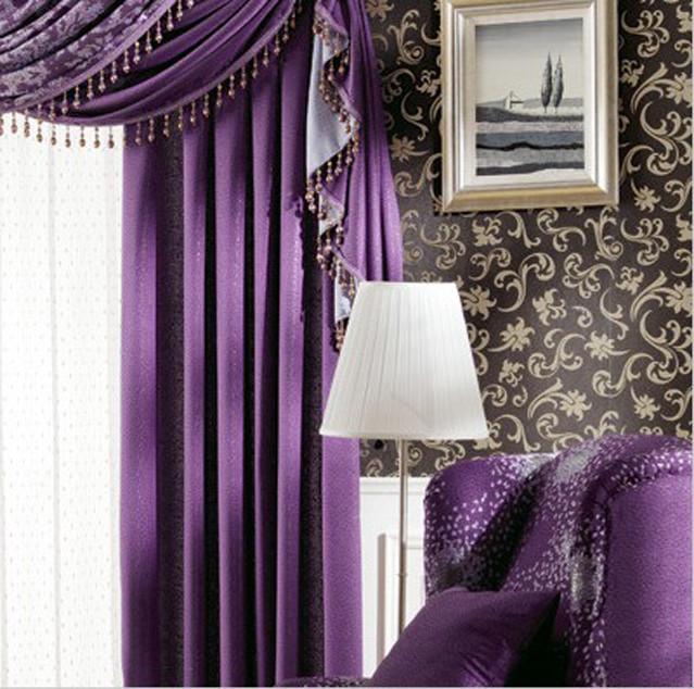 客厅窗帘什么颜色好?——紫色系