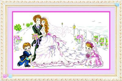 盘点卧室结婚主题十字绣图案大全