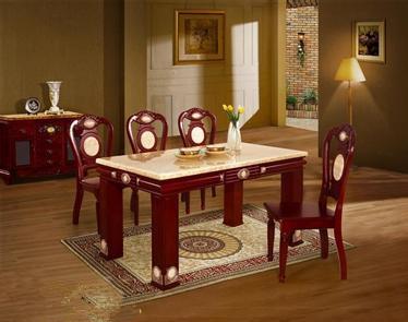 棕色大理石餐桌棕色理石餐桌图片3
