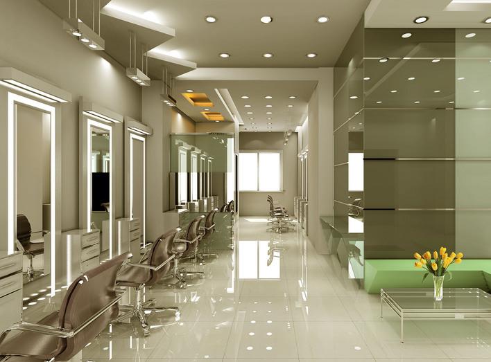 美发店装修设计的几个重点图片