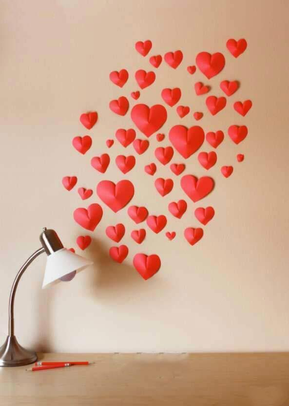 手工diy:爱心墙贴的制作之路
