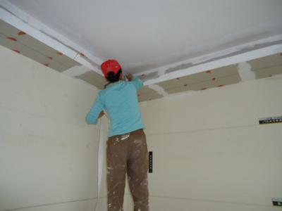 1  ,木龙骨石膏板吊顶工程施工:木龙骨选择:无节吧,无开裂,无