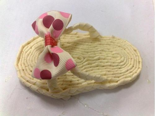 家居diy:创意手工制作编织拖鞋