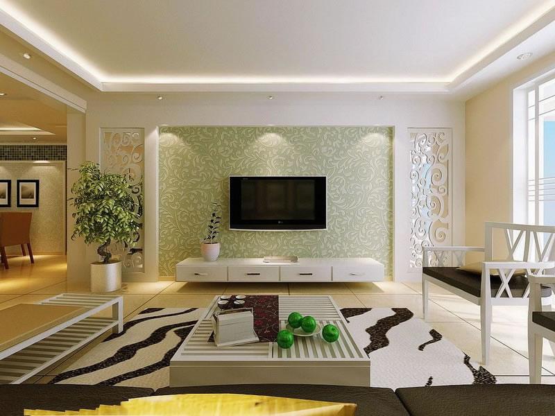电视背景墙又是整个客厅的精彩所在,尤如画龙点睛,是整个客厅的亮点。电视背景墙设计应根据整体装修风格与户型的不同及业主的喜好与要求,设计手法也是千变万化、丰富多样。  客厅电视背景墙装修效果图   三忌:   (1)电视主题墙忌尖角   电视主题墙要尽量避免有尖角设计,特别是三角形。要防止其形成煞相。尽量不要对主题墙进行毫无意义的凌乱的分割,否则会造成家人精神紧张、心神不宁,严重危害身体健康。电视主题墙宜采用以圆形、弧形或平直无棱角的线形为主要造型,它蕴涵着美满之意,使家庭和睦幸福,合合美美。   (