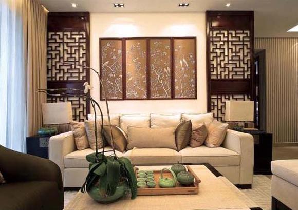 现代中式风格装饰效果图