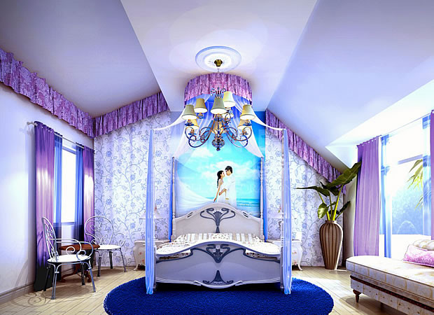 厕所装修风水学与室内设计蓝色图片
