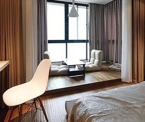 卧室榻榻米装修效果图7:一张榻榻米的面积是1.65平方米.图片