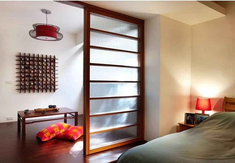 卧室玻璃隔断装修设计 卧室玻璃隔断效果图图片