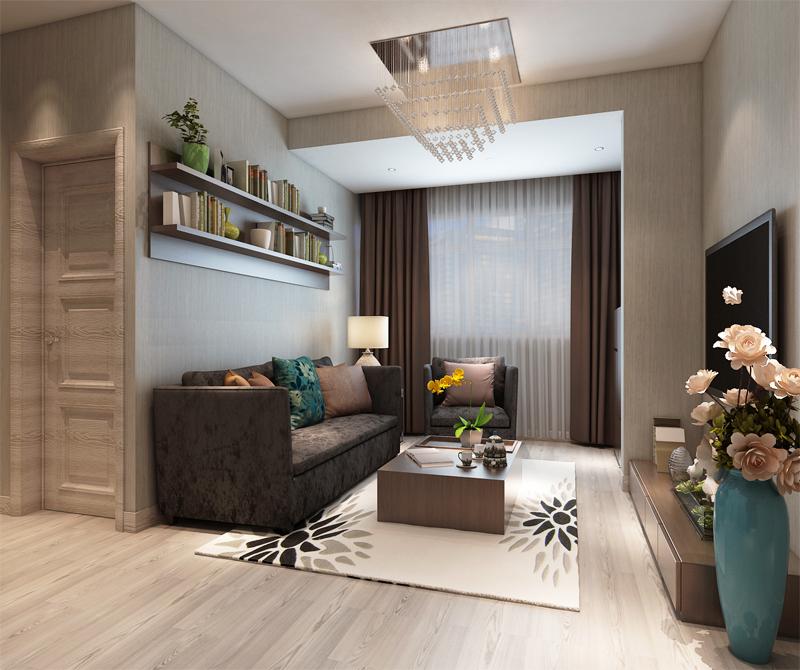 小户型样板房图片-客厅装修效果图