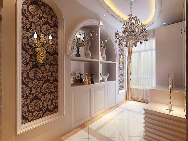 130平欧式风格案例 惬意浪漫三居室设计