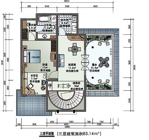 小别墅装修设计 小别墅平面图