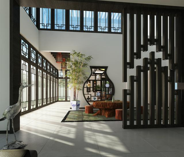 500平传统中式风家居设计 禅意韵味十足的空间图片