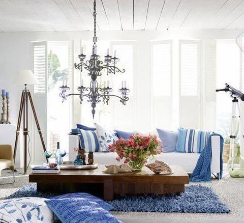 景致地中海风格客厅装修 保持简单的意念