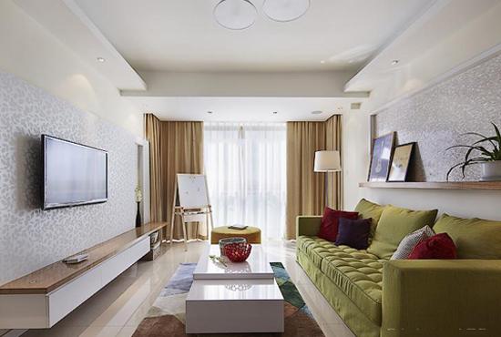 全风格客厅装修设计 客厅实景图