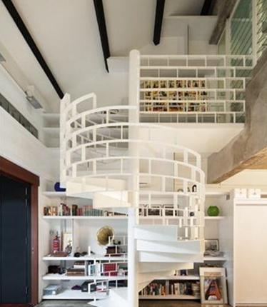 小户型跃层楼梯设计 小户型跃层楼梯设计图