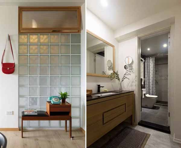 在卫生间没有窗户的情况下,如何弥补光线不足的缺点就成为了装修设计
