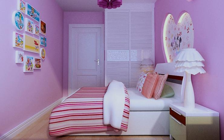 中心色为玫瑰色和淡紫色,地毯用浅玫瑰色,沙发用比地毯浓一些的玫瑰色