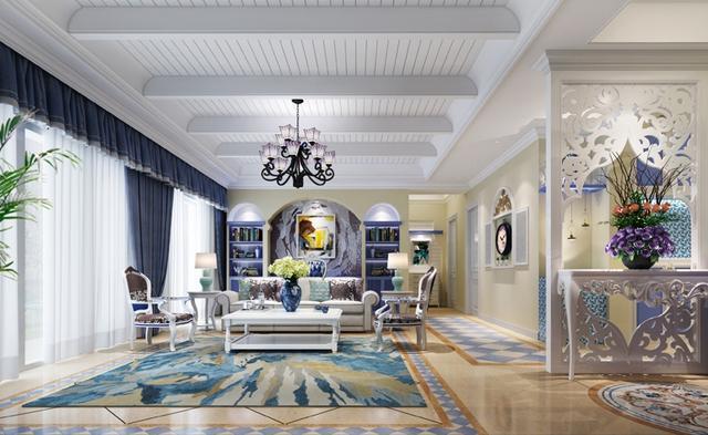 地中海风格装修设计 自由浪漫纯净生活空间