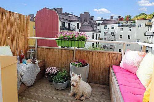 阳台休闲一角图片