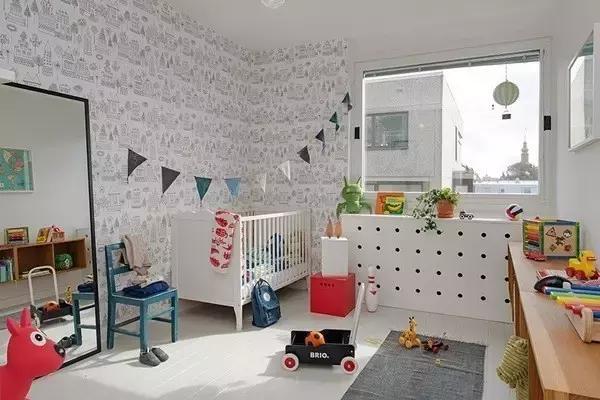 北欧风格儿童房,唯小清新色彩才可爱!