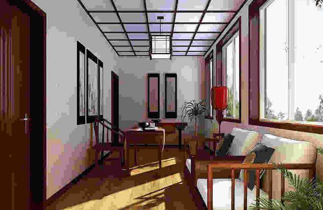 小阳台改造茶室装饰设计