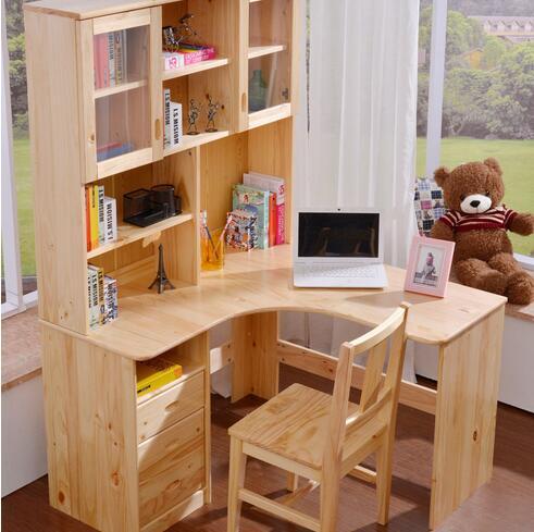 儿童转角书桌书柜组合的选购? 儿童转角书桌书柜组合的价格?图片