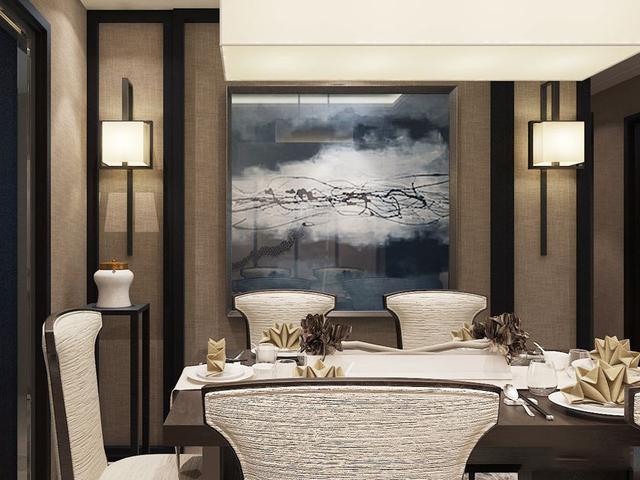 新中式风格案例 160平轻奢温馨美家图片