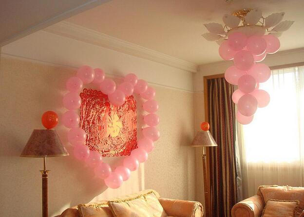 婚房客厅气球装饰 客厅气球装饰布置方法