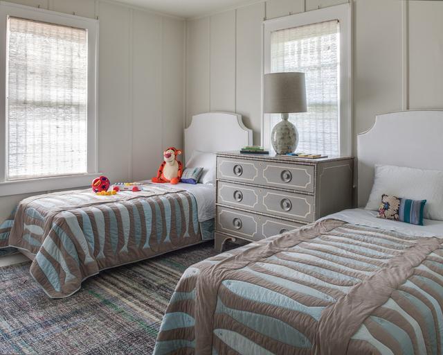 两个儿子一个房间装修 小卧室放二张床效果图图片