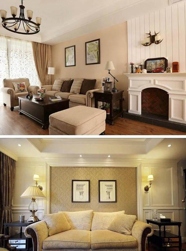 18款美式风格沙发背景墙效果图 哪一款是你的菜