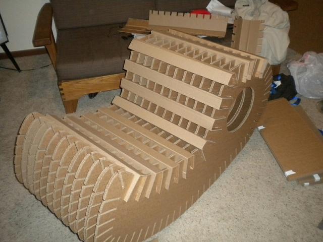 家居diy:教你使用纸箱手工diy个性摇椅