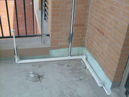 阳台排水管安装图