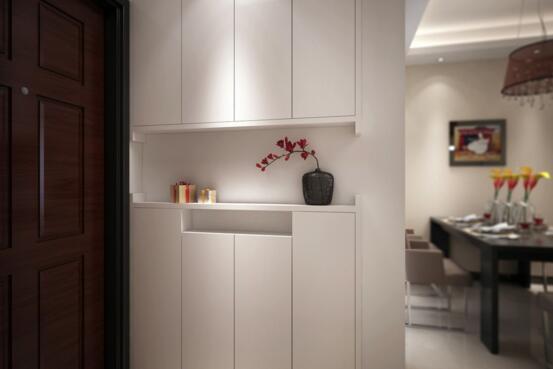 百叶门价格       买鞋柜,大家会考虑什么样设计形式的鞋柜门呢?图片
