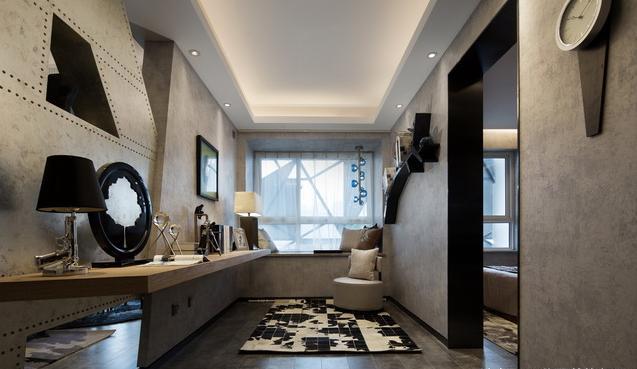 69平米后现代简约风设计 马来漆让家大放光彩
