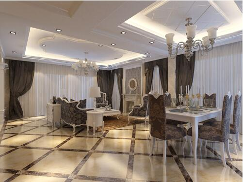 客厅菱形地砖拼花方法 客厅菱形地砖效果图