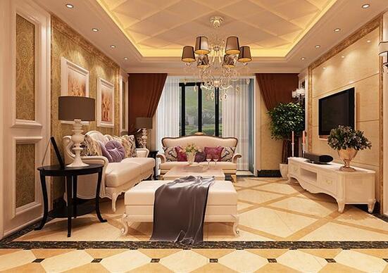客厅菱形地砖拼花方法