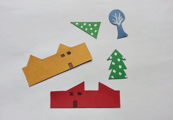手工diy:圣诞镇制作步骤