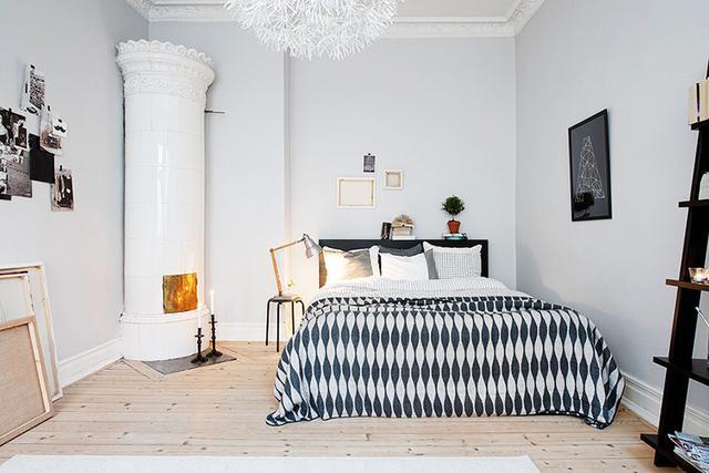 极简北欧风格卧室装修效果图 好适合拍照的哦