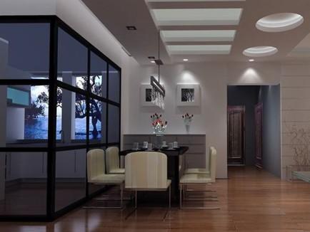 厨房透明隔断装修设计 厨房透明玻璃隔断效果图
